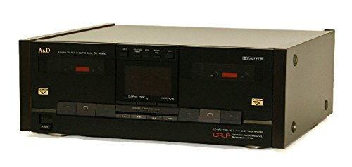 A&D (赤井電機と三菱電機の共同ブランド) GX-W930-BK ブラック ダブルRECリバースカセットデッキ  B076XT2TZ3