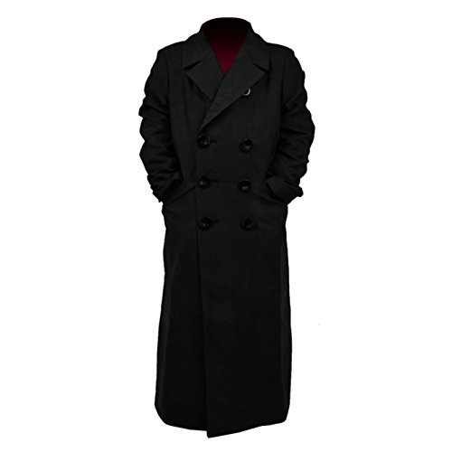 YANGGO Children's Colorful Trench Coat Costume (Large, Black)