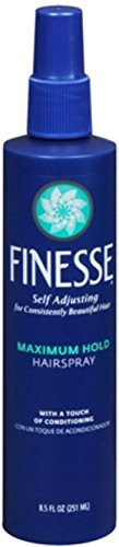 Finesse Finish Strengthen, Maximum Hold Hairspray 8.50 oz Pack of 9