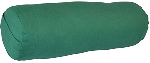 (YogaAccessories Small Junior Sized Round Cotton Yoga Bolster -)
