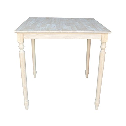 International Concepts Solid Wood Top Table with Turned Legs, 36-Inch - International Concepts Solid Wood