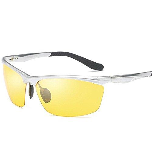 Gafas 2 Hombre Sol Sabarry 1 Ultravioleta Gafas Anti Hombre única Gafas polarizadas Deportes de Conductores Talla BtwxqdSZ