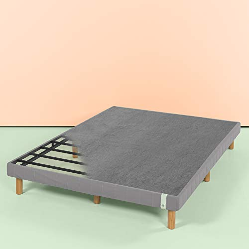 Zinus 11 Inch Quick Snap Standing Mattress Foundation/Low profile Platform Bed/No Box Spring needed, Gray, Cal King