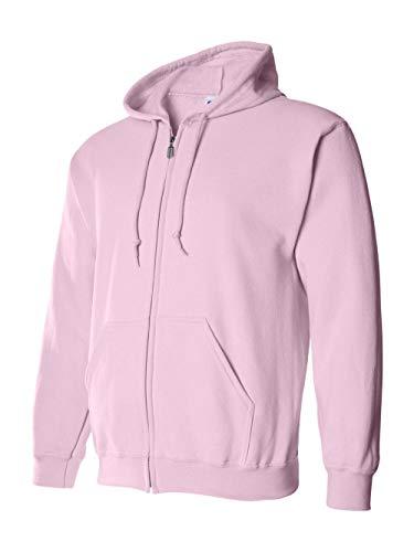 (Gildan Adult Heavy BlendFull-Zip Hooded Sweatshirt - Light Pink - XL)