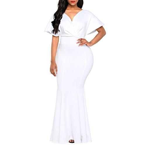 de Baoblaze Cena Dama Club Noche Vestido Fiesta Honor Mujeres Ropa l blanco Novia Maxi Nocturna xrIFwHSrq