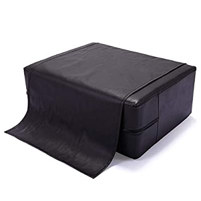 JAXPETY Barber Beauty Salon Spa Equipment Styling Chair Child Booster Seat Cushion Black&Brown