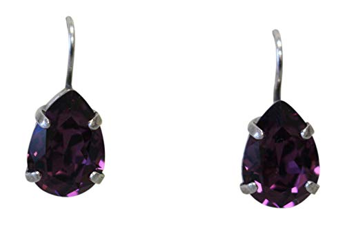 Mariana Purple Teardrop Swarovski Crystal Drop Earrings 204 ()