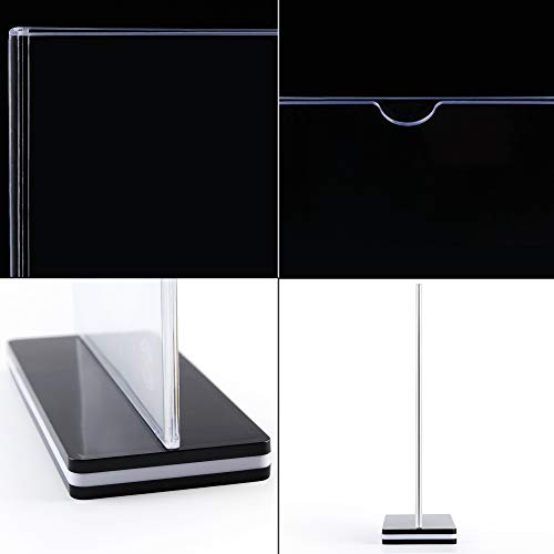 DONGLI 6/×A5 Sign Holder Acrylic Poster Menu Holder Display Stand Upright Double Sided for Tables Hotel Conference