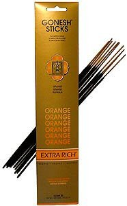 Orange - Gonesh Stick Incense - Orange Sticks Incense
