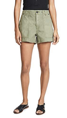 (Rag & Bone/JEAN Women's Super High Rise Army Shorts, Olive, Green, 24)