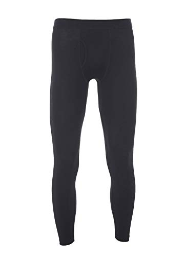 Avalanche Men's Moisture Wicking Wool Blend Fitted Base Layer Pant with Fly