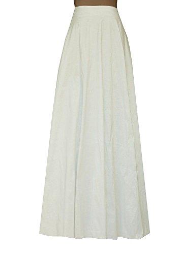 E K Women's long taffeta skirt Maxi evening formal cocktail ball floor length-L-Off-White und by E K