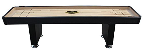 The Standard Foot Shuffleboard Table In Black By Berner Billiards - Standard shuffleboard table