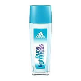 Adidas Body Fragrance Pure Lightness, For Women, 2.5 Fluid Ounce Spray Bottle, Body Spray for Everyday Use Floral Fragrance