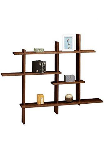 Deluxe Four Level Floating Shelf, Chocolate Espresso type finish- MADE IN USA by Woodform
