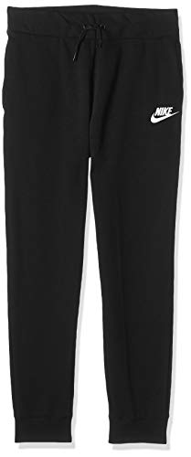 NIKE Sportswear Girls' Pants, Black/White, Large (Girls Nike Sweatpants)