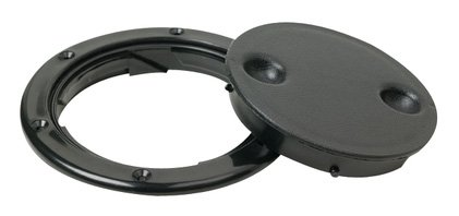 Black Seachoice Twist Lock Deck Plates Black 4 1//2 O.D.