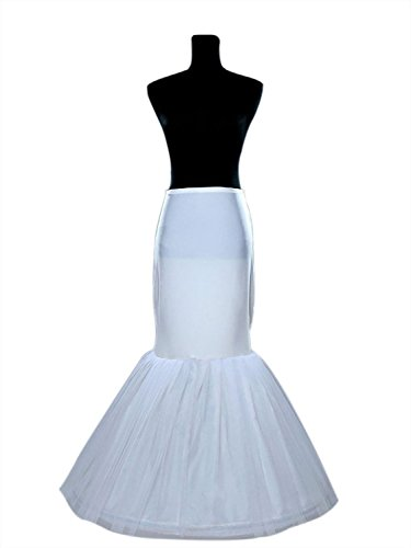 (Sisjuly Women's Mermaid Underskirt Wedding Petticoat Slips for Bridal One Size Ivory)
