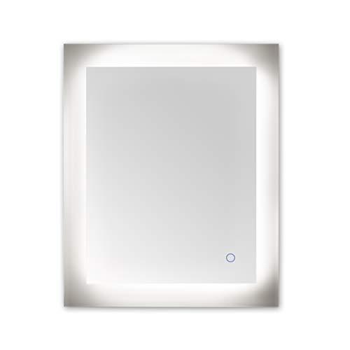 Dyconn Faucet M12AT2434W Royal Horizontal/Vertical Wall Mounted Backlit Vanity Bathroom LED Mirror - Mirrors Bathroom Royal Led Dyconn