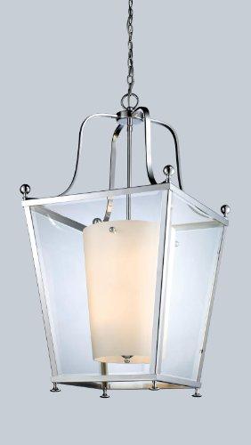 Z-Lite 178-8 Ashbury Eight Light Pendant, Metal Frame, Chrome Finish and Clear Beveled Outside Glass - Ashbury Pendant