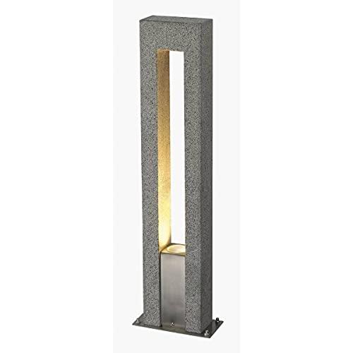 SLV 231420 ARROCK ARC GU10 floor lamp, Granit, salt & pepper, GU10, max. 35W