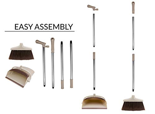 Broom and Dustpan Set [2019 Version] - Stand Up Brush and Dust Pan Combo for Upright Cleaning - Remove Hair with Built-in Wisp Scraper - Kitchen, Outdoor, Hardwood Floor & Garage Tiles Clean Supplies by Belleford (Image #7)