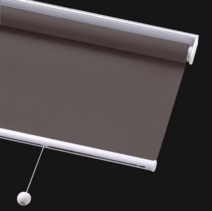 PASSENGER PIGEON Cordless Thermal Insulated Roller Shades, Blackout Bathroom Roller Window Shades, Custom Made Oil Proof Water Proof UV Protection Kitchen Blinds,75 W x 96 L,Brown Shades