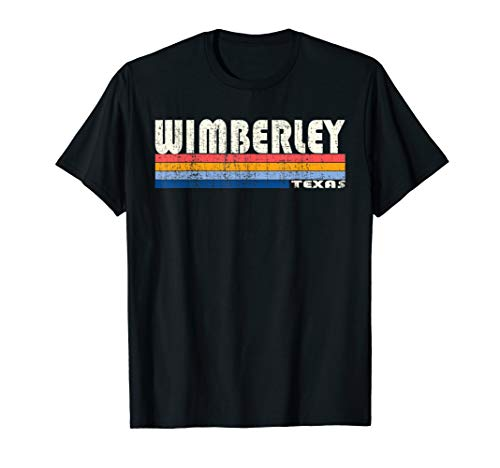 Vintage 70s 80s Style Wimberley TX T-Shirt (Wimberley Tx)