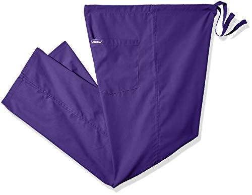 Landau Unisex Reversible Drawstring Scrub Pants, Grape, Large ()