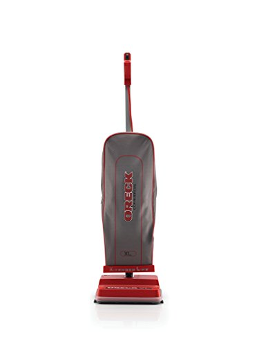 Oreck Commercial Upright Bagged Vacuum Cleaner, Lightweight, 40ft Power Cord, U2000R1, Grey/Red