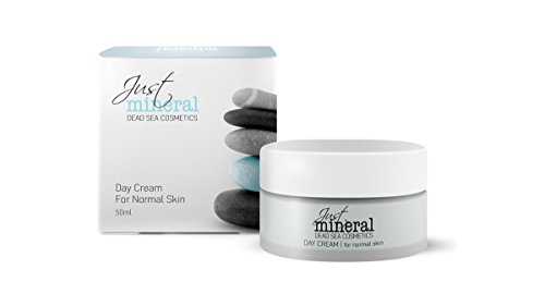 """Best High Quality Day Cream Moisturizer -Two Values in One Cream – Contains Vitamins & Dead Sea Minerals for Men and Women with Dry,oily & Aging Skin , Makeup Side Effects , Teenage Acne - Reduces Wrinkles, Freckles, Redness, Sunspots, Diseases, Skin Flakes and Blemishe -""""Just Mineral"""" 1.7 Oz / 50ml"""
