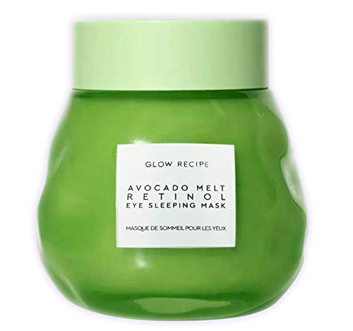 Glow Recipe Avocado Melt Retinol Eye Sleeping Mask 0.5 Oz! Formulated With Avocado, Encapsulated Retinol, Niacinamide, And Coffeeberry! Skin Brightening, Firming, Hydrating And Depuffing! by Glow Recipe