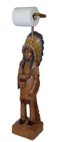 - Hickory Manor House Cigar Store Indian TP Holder/Hand Painted
