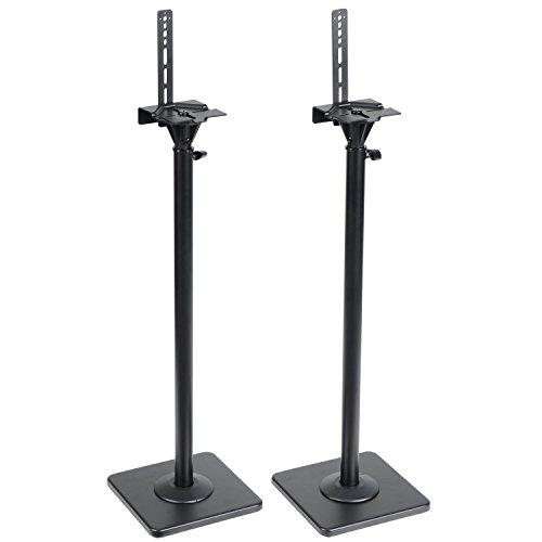 VideoSecu Adjustable Stands Mounts Heavy Surround Sound Satellite Bookshelf Stand DA8