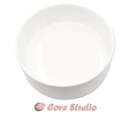 Modern White Ceramic Bowl Round Succulent Cactus Planter Pot – 6 Inch – Decorative Garden Flower Plants Holder Bowl