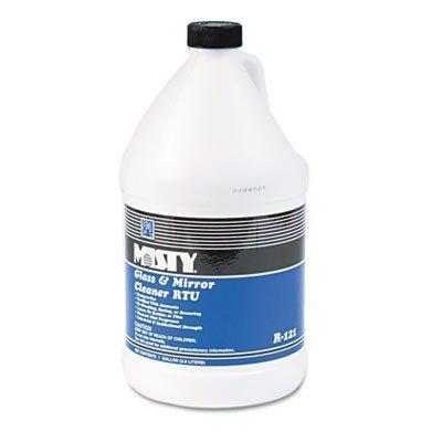 Misty Glass & Mirror Cleaner w/Ammonia, 1 gal. Bottle by - Misty Glass Amrep