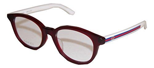 GUCCI GG 9103/J 3UD DARK BURGUNDY WHITE EYEGLASSES (Gucci Brille Frames Für Frauen)