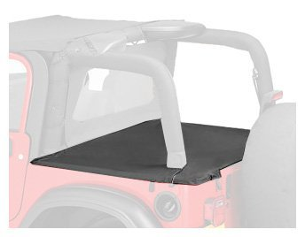 Bestop 90012-35 Black Diamond Duster Deck Cover for 03-06 Wrangler with Factory Soft Top bows folded down by (Diamond Duster)