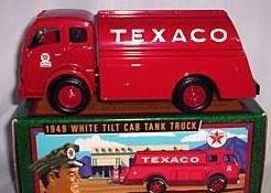Texaco Collector (Etrl Texaco 1949 White Tilt Cab Tank Truck Bank; Collectors' Series #13)