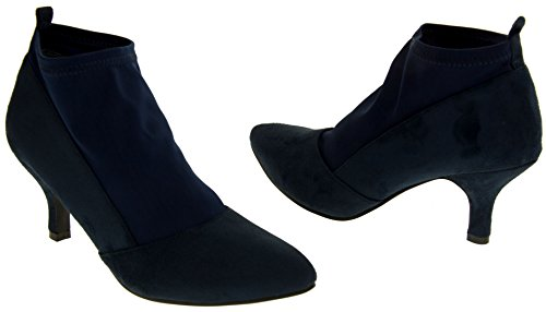 Poshh! Womens Faux Suede Leather Court Shoes Navy Blue m2yd675CVP