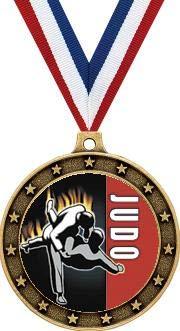 Arts Martial Medal Gold - Gold Judo Medals - 2.5