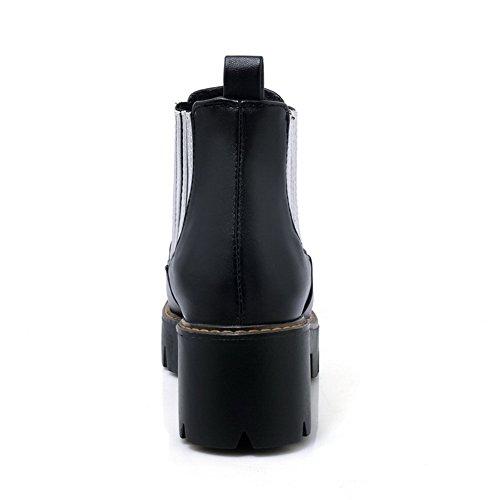BalaMasa Womens Fashion Slip-Resistant AssortedColor Urethane Boots ABL10135 Black YlIb2l