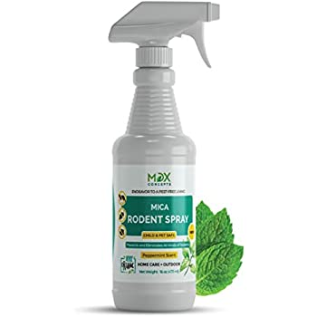 MDXconcepts Mice Repellent - Humane Mouse Trap Substitute - 16 oz Organic Spray - Guaranteed Effective - Works For All Types of Mice & Rats