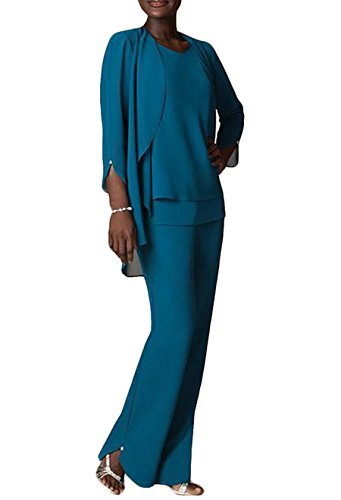 The Peachess Teal Plus Size Pant Suits for Special Occasions Size 18