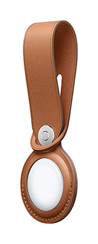 New Apple AirTag Leather Loop - Saddle Brown