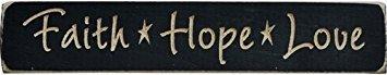Faith Plaques Hope Love - Faith Hope Love Stars Engraved Distressed Wood Plaque Sign Country Primitive Décor