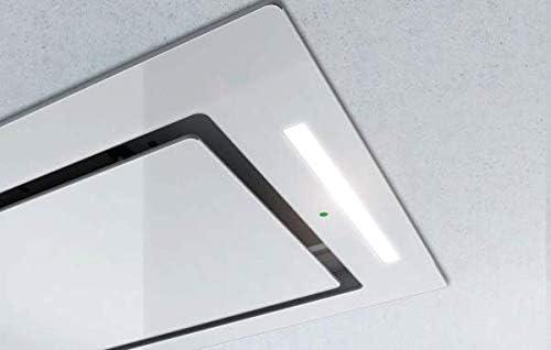 Airforce F171 - Campana de cocina de techo (100 cm, cristal blanco): Amazon.es: Grandes electrodomésticos