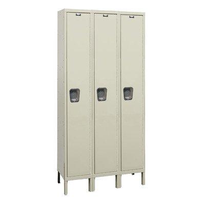 (Hallowell UY3588-1A-PT Maintenance Free Quiet KD Metal Locker, Assembled, 3-Wide Grouping, 1 Tier, 72