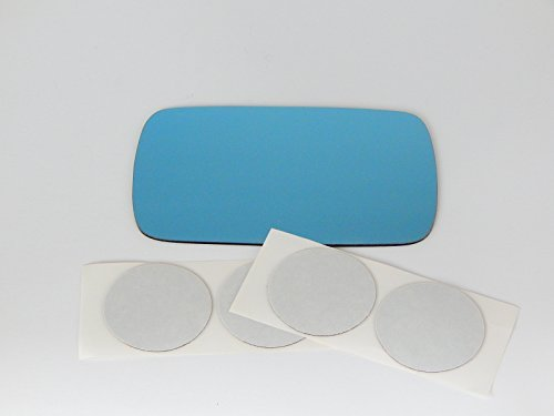 84-05 Bmw 3 Series All Except ci Models Left Driver Mirror Blue Glass Lens w/Adhesive USA non heated