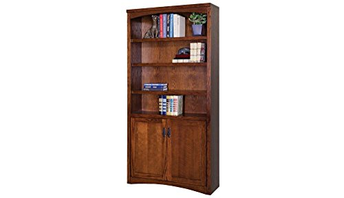 Mission Pasadena Bookcase with Doors Mission Oak Finish Dimensions: 36